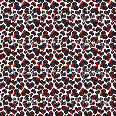 Galaxy heart pattern watercolor  vinyl sheet - HTV -  Adhesive Vinyl -  Valentine's Day HTV3959 - Breeze Crafts
