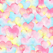 Watercolor HTV pastel LARGE heart pattern craft vinyl sheet - HTV -  Adhesive Vinyl -  Valentine's Day HTV3960
