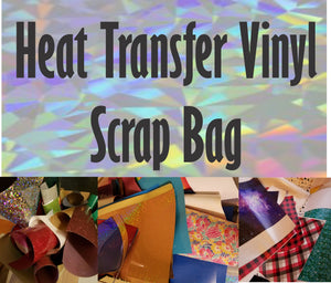 Scrap Bag of Heat transfer Vinyl - 1 pound