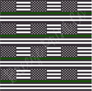 Green line black and white American flag print patterned craft vinyl sheet, heat transfer/HTV or Adhesive Vinyl, army, armed forces  HTV2809