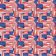 Fourth of July flag pattern vinyl sheet, stars and stripes, heat transfer/HTV or Adhesive Vinyl, abstract USA HTV2821 - Breeze Crafts