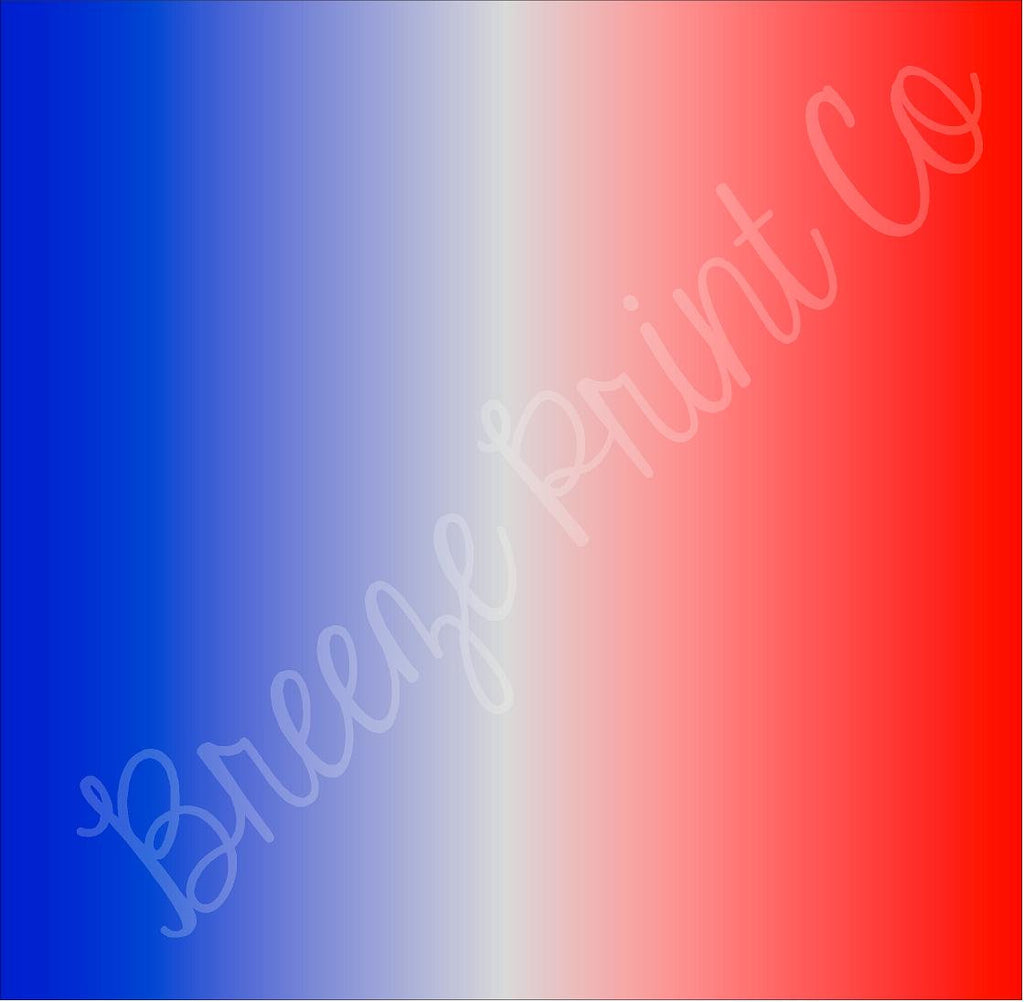 Red And Blue Ombre Print Craft Vinyl Sheet Htv Heat