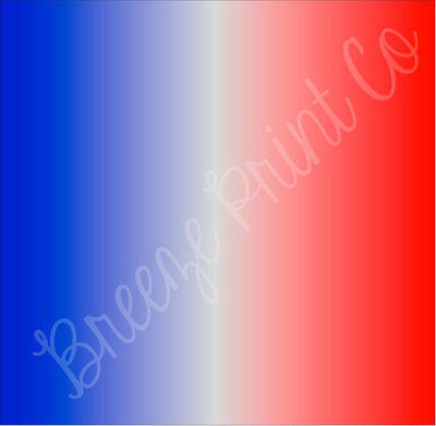Red, white and blue patriotic ombre HTV heat transfer vinyl or adhesive vinyl, craft vinyl sheets
