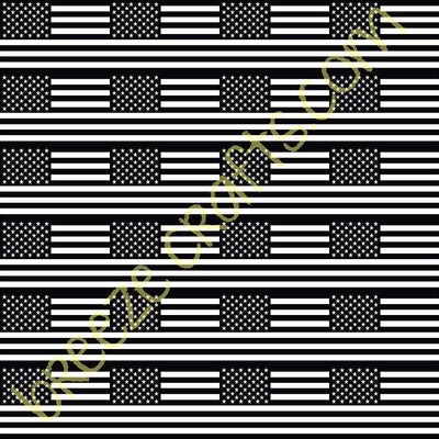 American flag patterned vinyl, HTV or adhesive vinyl, USA pattern craft vinyl sheets 2x3 inch flags HTV2825 - Breeze Crafts