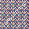 Floral faux leather sheets, patterned faux leather, leather fabric, vinyl fabric, MINI rose with navy background, for earrings, bows, L2231M