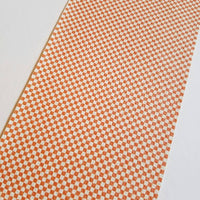 Faux leather sheets, orange checker patterned faux leather, leather fabric, vinyl fabric, checkerboard MINI pattern for earrings,bows L3155M - Breeze Crafts