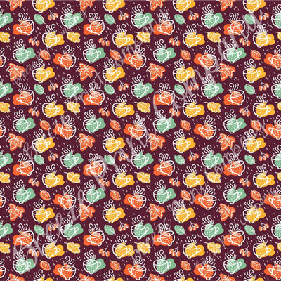 Autumn faux leather sheets, patterned faux leather, leaf, mugs maroon leather fabric, vinyl fabric for crafts, bows, earrings, & more L5058 - Breeze Crafts