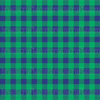 Buffalo Plaid Patterned Vinyl, green and navy pattern, craft vinyl sheet - HTV / heat transfer or Adhesive Vinyl -  lumberjack plaid HTV1839