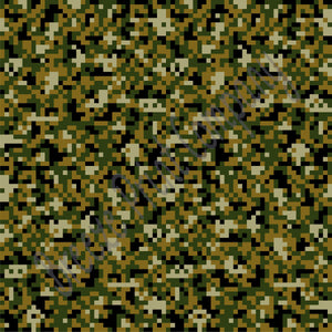Digital camo faux leather sheets, patterned faux leather, green, army pattern leather fabric, vinyl fabric, earrings, bows, crafts  L3801 - Breeze Crafts
