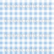 Bably Blue Buffalo check patterned Vinyl - HTV or Adhesive Vinyl - htv1869 - Breeze Crafts