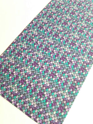 Mermaid, pattern faux leather, mermaid, patterned faux leather sheets, leather fabric, vinyl fabric, aqua and purple MINI scale L3155M