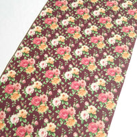 Floral faux leather sheets, patterned faux leather, leather fabric, vinyl fabric, flower, MINI rose with maroon for earrings, bows  L2233M
