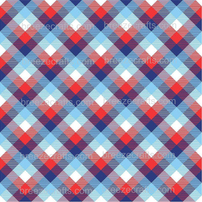 Plaid patterned vinyl, craft printed vinyl sheets - HTV / heat transfer or Adhesive Vinyl -  red, white and blue pattern vinyl HTV1880