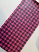 Buffalo Plaid Faux leather sheets, patterned faux leather, leather fabric, vinyl fabric, hot pink plaid leather for earrings, bows L1803 - Breeze Crafts