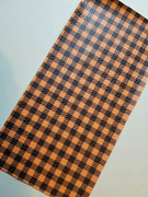Buffalo Plaid Faux leather sheets, patterned faux leather, leather fabric, vinyl fabric, orange plaid leather for earrings, bows L1806 - Breeze Crafts