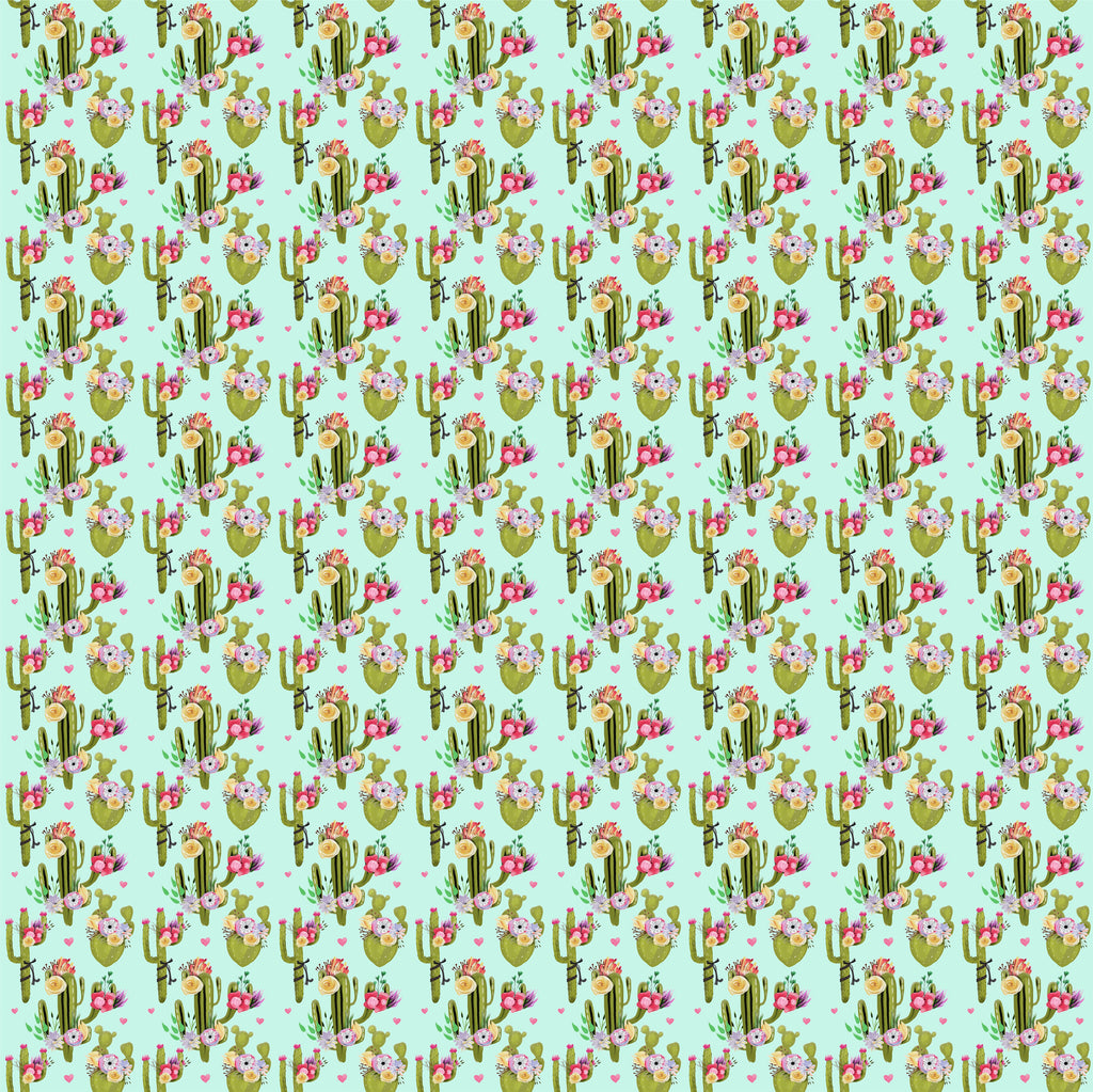 Cactus, faux leather sheets, patterned faux leather, southwest pattern leather fabric, cacti vinyl fabric, earrings, bows, crafts  L2012 - Breeze Crafts