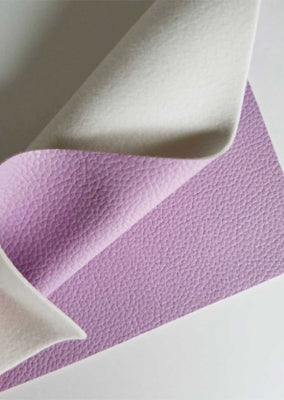 Lavender textured faux leather sheets, solid litchi leather fabric, A4 8x11 inch sheets  15087