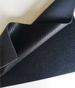 Black textured faux leather sheets, solid litchi pebbled leather fabric, for bows, earrings and more A4 8x11 inch sheet 14001 - Breeze Crafts
