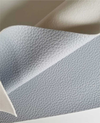 Gray textured faux leather sheets, solid litchi pebbled leather fabric, for bows, earrings and more A4 8x11 inch sheet 16125