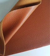 Sienna brown textured faux leather sheets, solid litchi pebbled leather fabric, for bows, earrings and more A4 8x11 inch sheet 18092