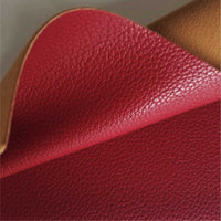 Cardinal red textured faux leather sheets, solid litchi pebbled leather fabric, for bows, earrings and more A4 8x11 inch sheet 12177 - Breeze Crafts