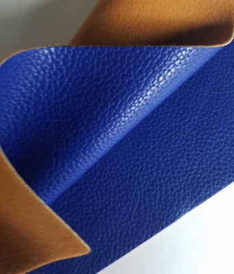 Dark blue textured faux leather sheets, solid litchi pebbled  leather fabric, for bows, earrings and more A4 8x11 inch sheet 16095 - Breeze Crafts