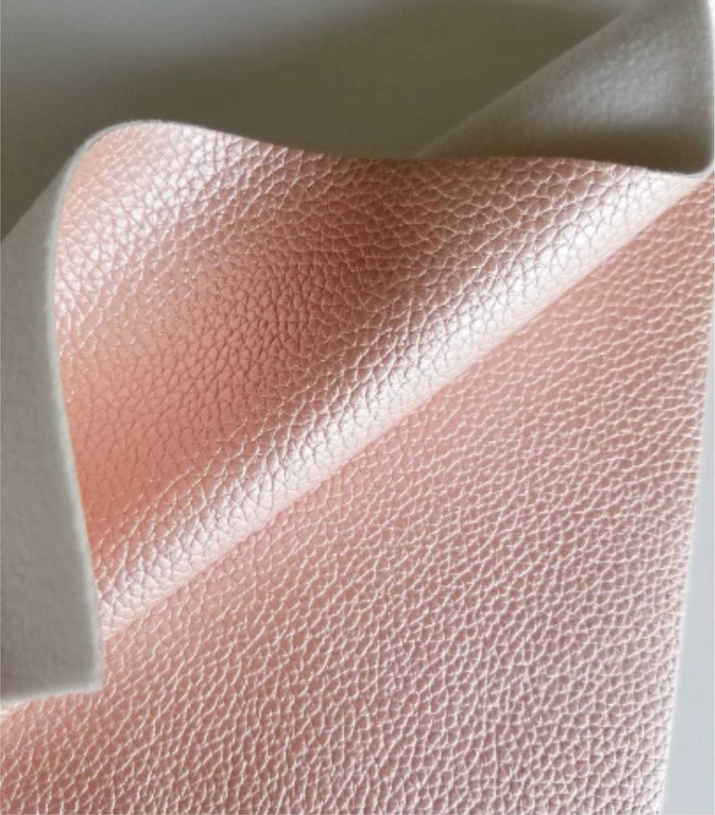 Synthetic Leather Sheets Pink Rose Gold Faux Leather Sheets Translucent Faux Leather Sheets for Bows and Earrings Making Cricut Supplies