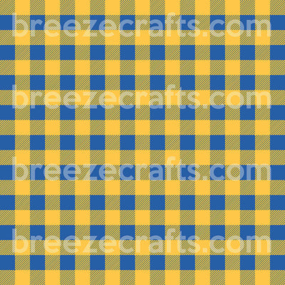 Buffalo Plaid Pattern Vinyl, blue and yellow gold craft vinyl sheet, HTV or Adhesive Vinyl HTV1849 - Breeze Crafts