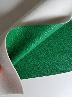 Green textured faux leather sheets, Kelly litchi leather fabric, A4 8x11 inch sheets  17313