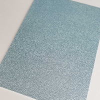 Metallic blue textured faux leather sheets, solid pearlescent litchi leather fabric, A4 8x11 inch sheets  M12167F