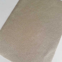 Metallic gold textured faux leather sheets, solid litchi pebbled leather fabric, for bows, earrings and more A4 8x11 inch sheet M13314