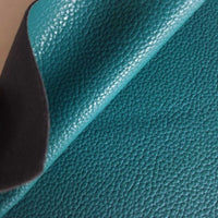Teal textured faux leather sheets, solid litchi pebbled  leather fabric, for bows, earrings and more A4 8x11 inch sheet 17091