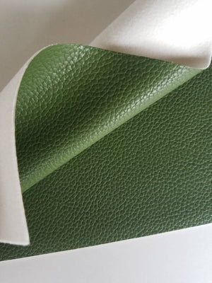 Forest green textured faux leather sheets, solid litchi pebbled  leather fabric, for bows, earrings and more A4 8x11 inch sheet 17238