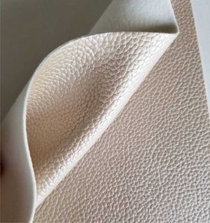 Champagne textured faux leather sheets, solid litchi pebbled metallic leather fabric, for bows, earrings and more A4 8x11 inch sheet M13316 - Breeze Crafts