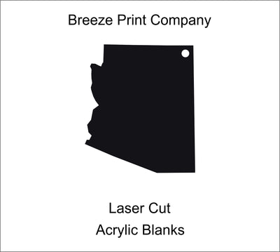 "Arizona Clear Acrylic Blank for keychains, ornaments, signs and more, craft blanks for vinyl, 1.5""-20"" with or without hole"