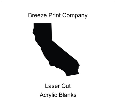"California Clear Acrylic Blank for keychains, ornaments, signs and more, craft blanks for vinyl, 1.5""-20"" with or without hole"