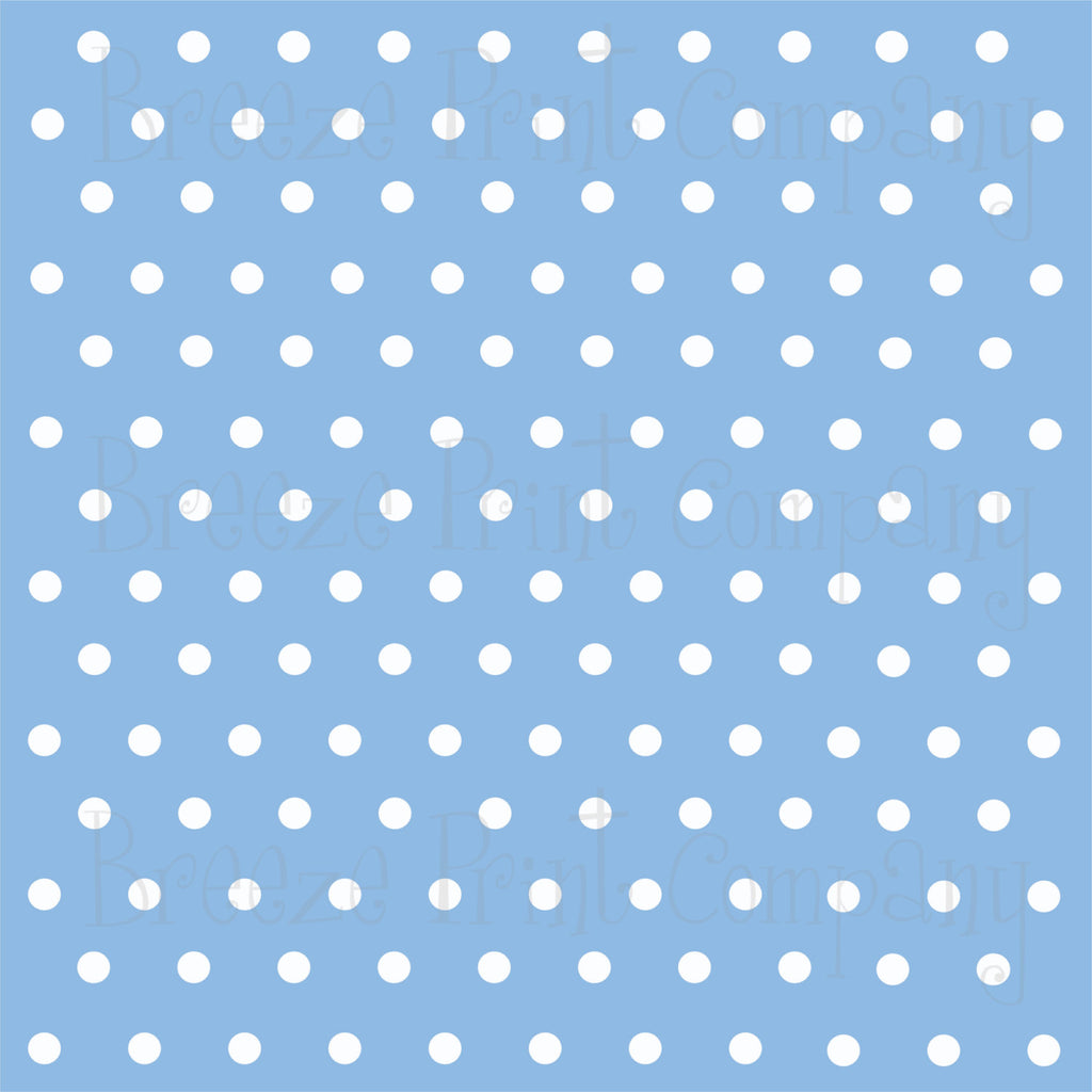 Light blue with white polka dots craft  vinyl - HTV -  Adhesive Vinyl -  polka dot pattern   HTV12