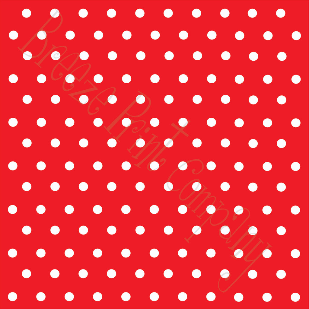Red with white polka dots craft  vinyl - HTV -  Adhesive Vinyl -  polka dot pattern   HTV14