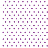 White with purple polka dots craft  vinyl - HTV -  Adhesive Vinyl -  polka dot pattern   HTV27
