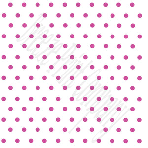 White with fuchsia polka dots craft  vinyl - HTV -  Adhesive Vinyl -  polka dot pattern   HTV35