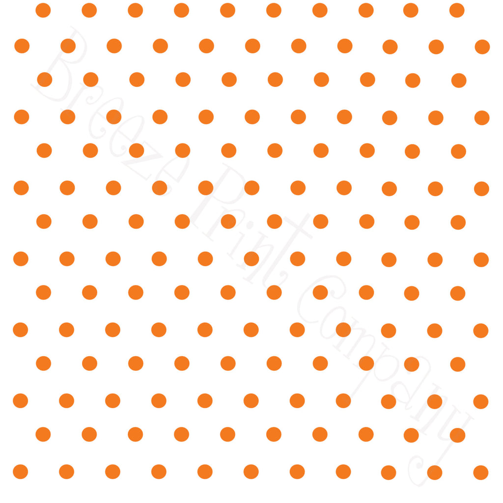 White with orange polka dots craft  vinyl - HTV -  Adhesive Vinyl -  polka dot pattern   HTV21