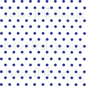 White with blue polka dots craft  vinyl - HTV -  Adhesive Vinyl -  polka dot pattern   HTV28