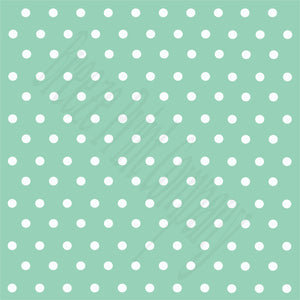 Mint with white polka dots craft  vinyl - HTV -  Adhesive Vinyl -  polka dot pattern   HTV38