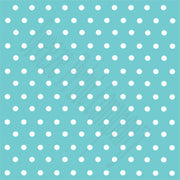 Aqua with white polka dots craft  vinyl - HTV -  Adhesive Vinyl -  polka dot pattern   HTV39 - Breeze Crafts