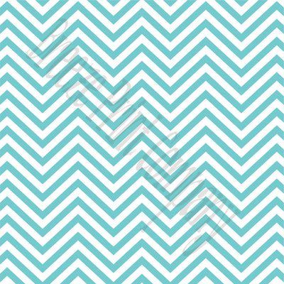 Aqua chevron craft  vinyl - HTV -  Adhesive Vinyl -  aqua and white zig zag pattern   HTV44 - Breeze Crafts