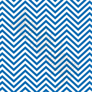Blue chevron craft  vinyl - HTV -  Adhesive Vinyl -  royal blue and white zig zag pattern   HTV62 - Breeze Crafts
