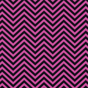 Fuchsia and black chevron craft  vinyl - HTV -  Adhesive Vinyl -  zig zag pattern   HTV81 - Breeze Crafts