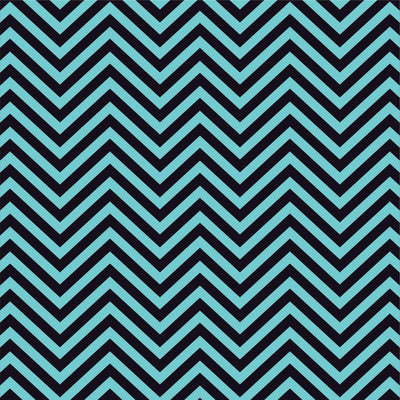 Aqua and black chevron craft  vinyl - HTV -  Adhesive Vinyl -  zig zag pattern   HTV75 - Breeze Crafts