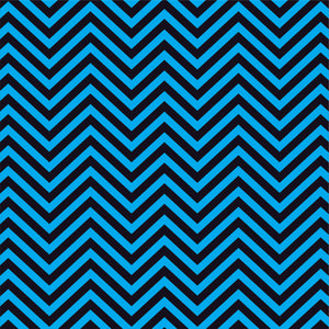 Cyan and black chevron craft  vinyl - HTV -  Adhesive Vinyl -  zig zag pattern   HTV76 - Breeze Crafts