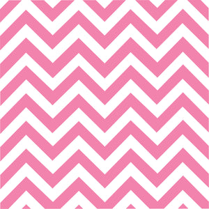 Pink chevron craft  vinyl - HTV -  Adhesive Vinyl -  medium pink and white large zig zag pattern   HTV100